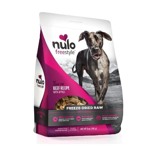 Nulo Freestyle Freeze-Dried Raw Beef with Apples for Dogs