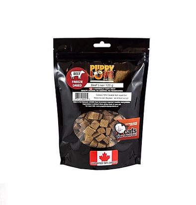 Puppy Love Freeze Dried Beef Liver 120g (4748677054523)