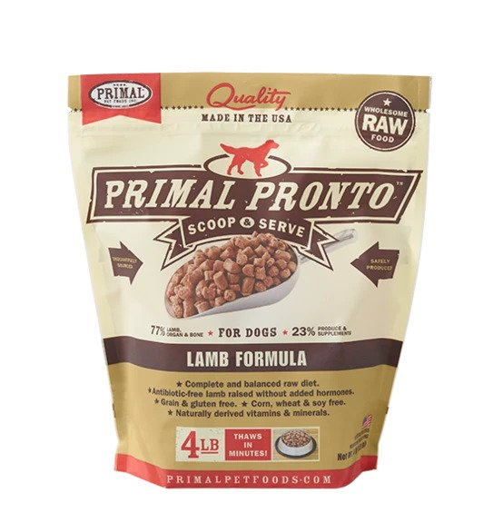 Primal Pronto Raw Lamb Formula for Dogs (5319871856794)