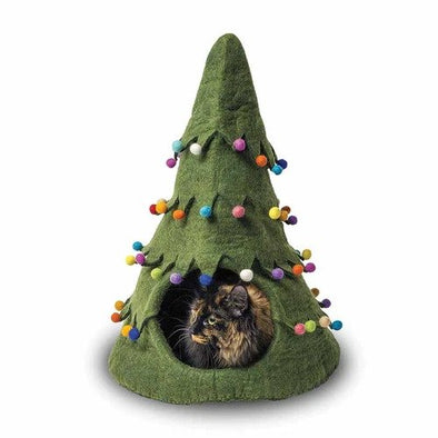Dharma Dog Karma Cat Blue Holiday Tree