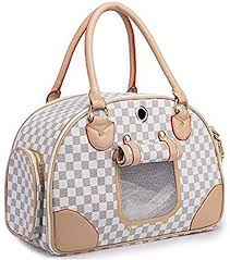 Checkered White Pet Carrier