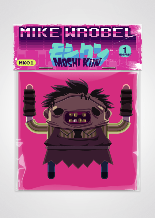 02 Leatherface-Moshi Kun Cards-Mike Wrobel Shop-Mike Wrobel Shop