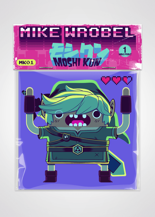 08 Link-Moshi Kun Cards-Mike Wrobel Shop