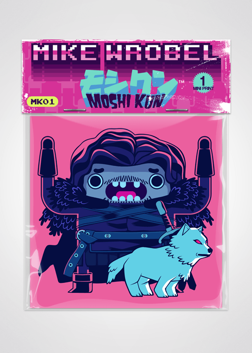 10 Jon Snow-Moshi Kun Cards-Mike Wrobel Shop-Mike Wrobel Shop