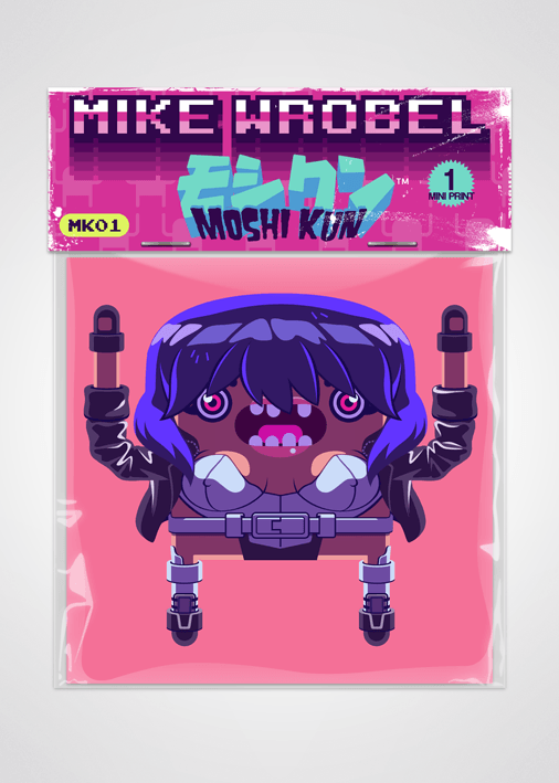 Mike Wrobel Shop - 13 Motoko Kusanagi Ghost in the Shell Pack Moshi Kun Cards