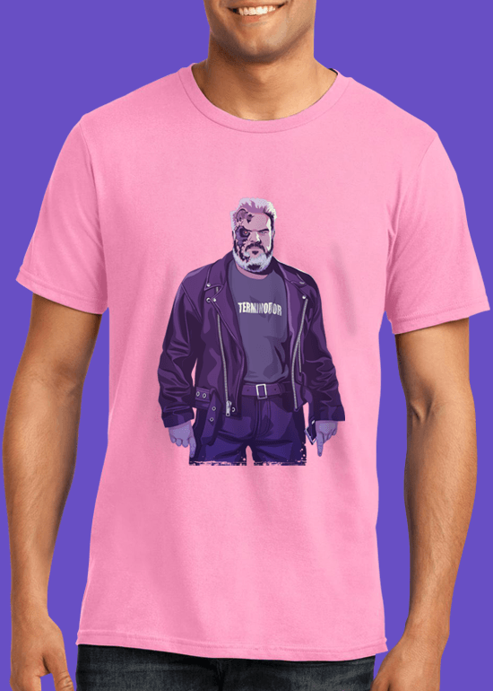 Mike Wrobel Shop 80/90s Thrones Hodr T Shirt Man Charity Pink Small Medium Large X-Large 2X-Large