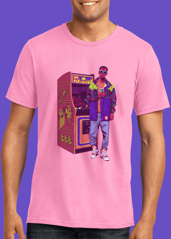 Mike Wrobel Shop Arcade Monster T Shirt Man Charity Pink Small Medium Large X-Large 2X-Large