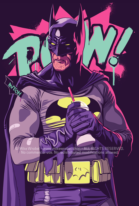 Mike Wrobel Shop Batman series: Batman Limited Edition Art Print medium-14x20 Artwork Wall Art Poster