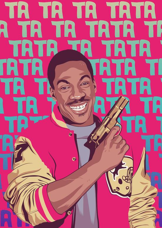 Mike Wrobel Shop Beverly Hills Cop Alex Foley Art Print medium-8.5x12 Artwork Wall Art Poster