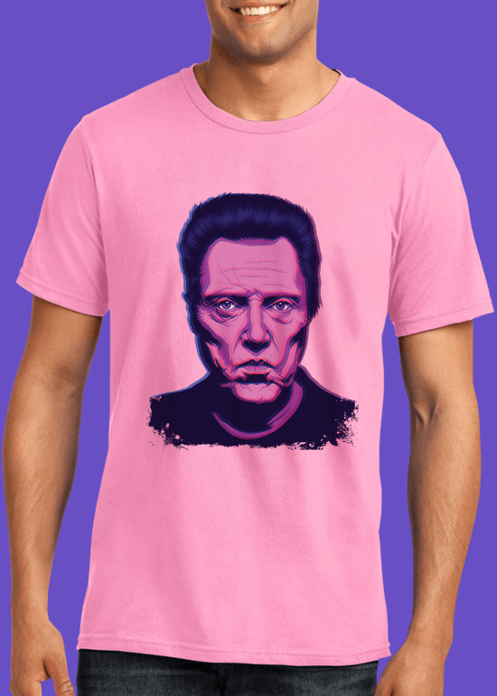 Mike Wrobel Shop Christopher Walken T Shirt Man Charity Pink Small Medium Large X-Large 2X-Large