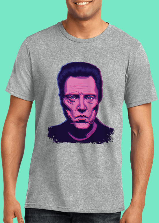 Mike Wrobel Shop Christopher Walken T Shirt Man Heather Grey Small Medium Large X-Large 2X-Large
