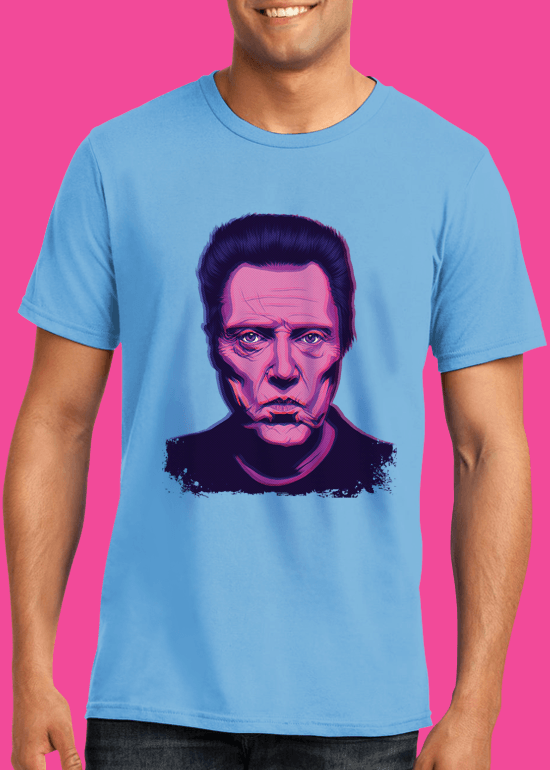 Mike Wrobel Shop Christopher Walken T Shirt Man Light Blue Small Medium Large X-Large 2X-Large