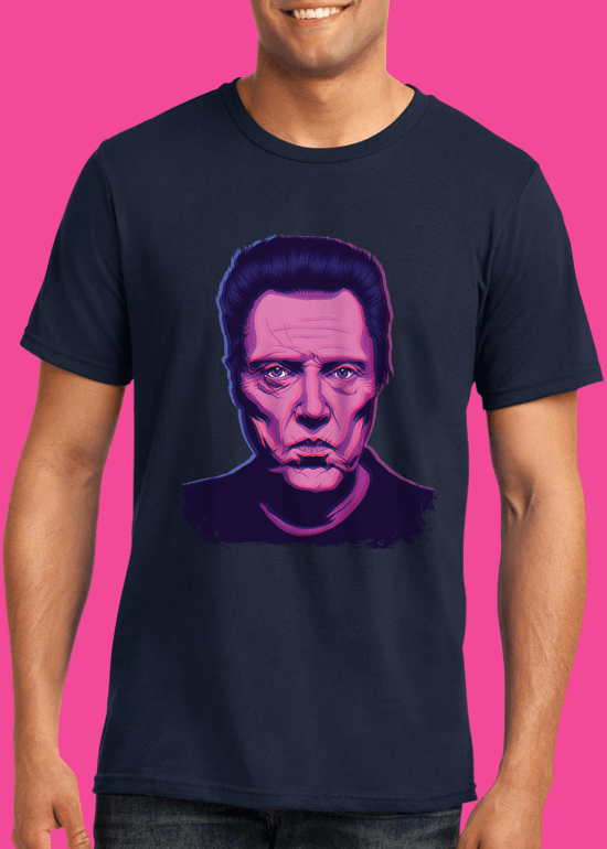 Mike Wrobel Shop Christopher Walken T Shirt Man Navy Blue Small Medium Large X-Large 2X-Large