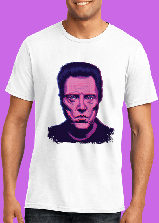 Mike Wrobel Shop Christopher Walken T Shirt Man White Small Medium Large X-Large 2X-Large