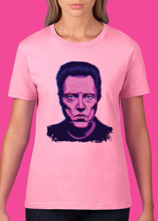 Mike Wrobel Shop Christopher Walken T Shirt Woman Charity Pink Small Medium Large X-Large 2X-Large