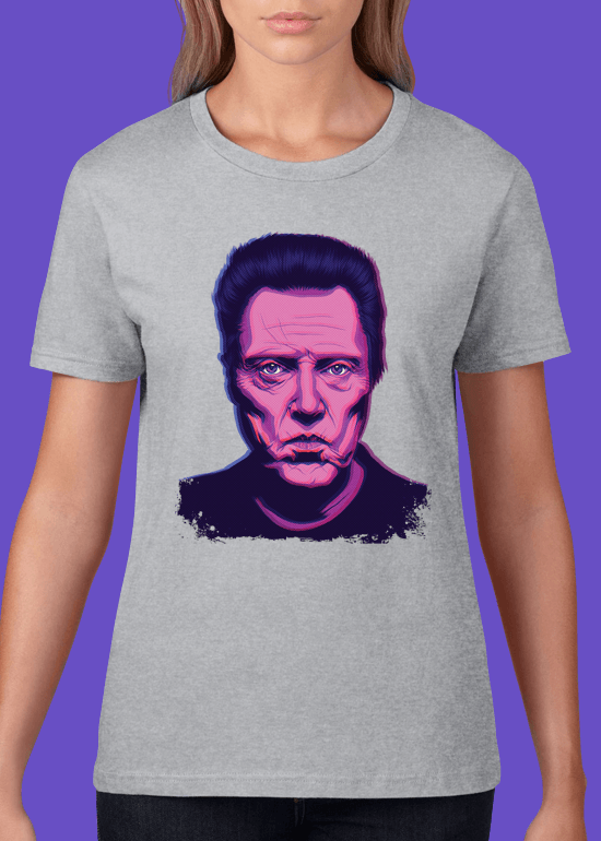 Mike Wrobel Shop Christopher Walken T Shirt Woman Heather Grey Small Medium Large X-Large 2X-Large