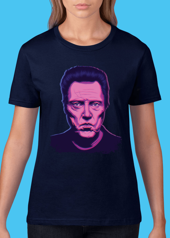 Mike Wrobel Shop Christopher Walken T Shirt Woman Navy Blue Small Medium Large X-Large 2X-Large