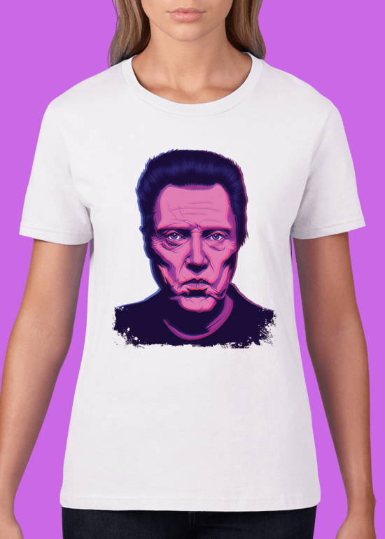 Mike Wrobel Shop Christopher Walken T Shirt Woman White Small Medium Large X-Large 2X-Large