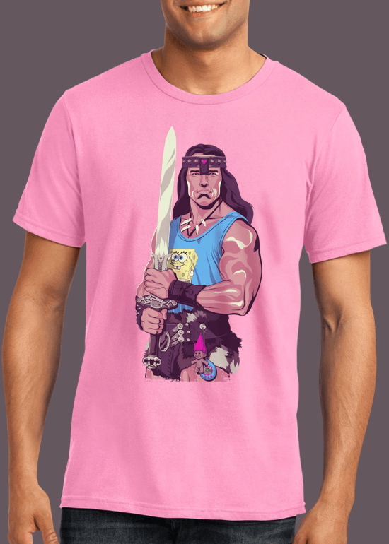 Mike Wrobel Shop Conan The Barbarian T Shirt Man Charity Pink Small Medium Large X-Large 2X-Large