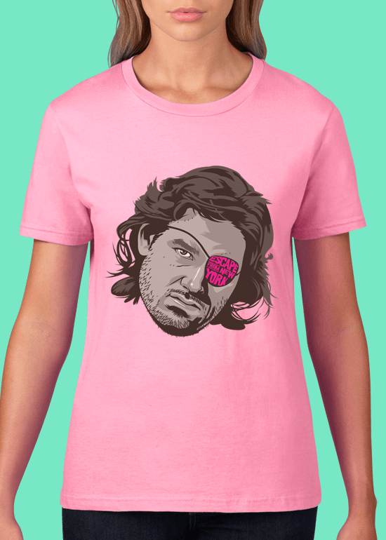 Mike Wrobel Shop Escape From New York T Shirt Woman Charity Pink Small Medium Large X-Large 2X-Large