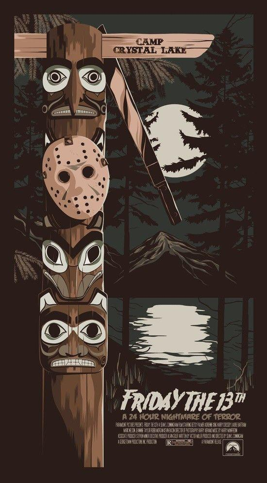 Mike Wrobel Shop Friday The 13th Art Print medium-14x24 Artwork Wall Art Poster
