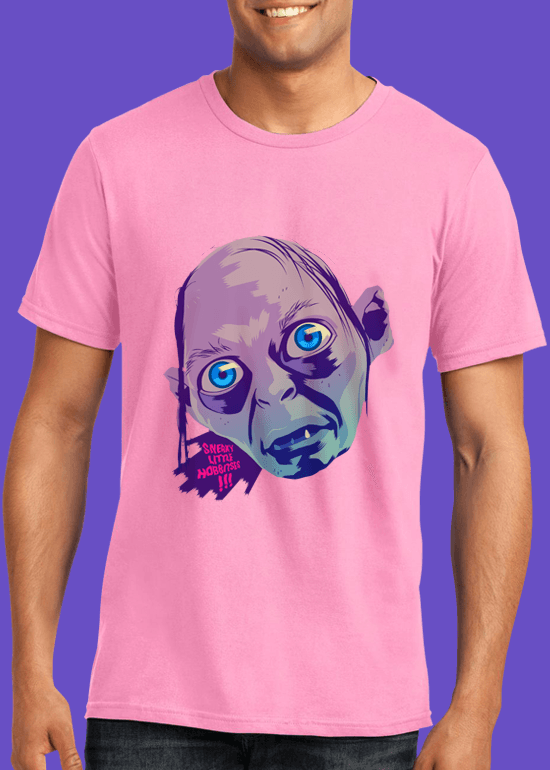 Mike Wrobel Shop Gollum T Shirt Man Charity Pink Small Medium Large X-Large 2X-Large