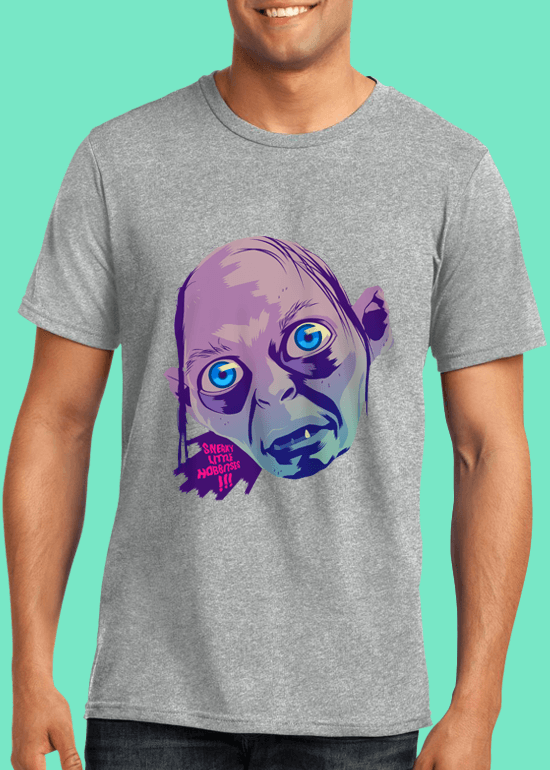 Mike Wrobel Shop Gollum T Shirt Man Heather Grey Small Medium Large X-Large 2X-Large