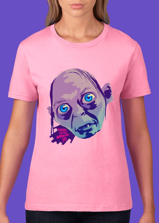 Mike Wrobel Shop Gollum T Shirt Woman Charity Pink Small Medium Large X-Large 2X-Large