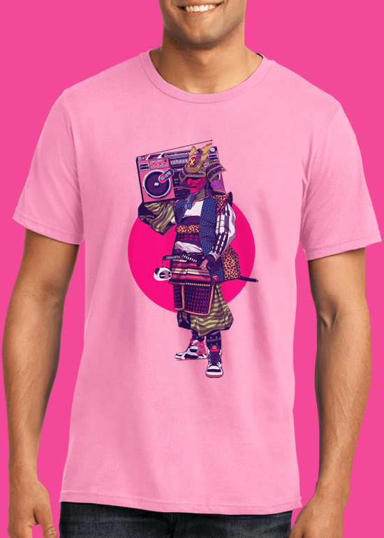 Mike Wrobel Shop HipHop Samurai T Shirt Man Charity Pink Small Medium Large X-Large 2X-Large