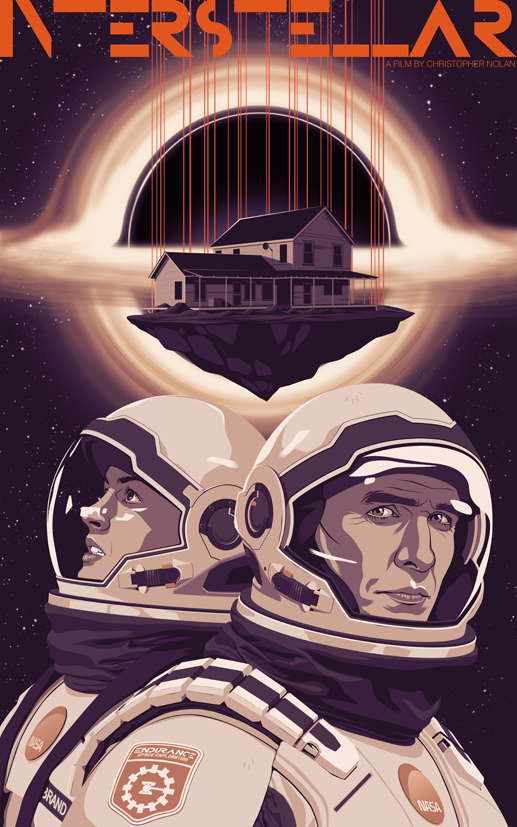 Mike Wrobel Shop Interstellar Art Print medium-13x21 Artwork Wall Art Poster