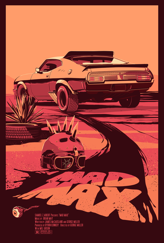 Mike Wrobel Shop Mad Max Art Print medium-14x20 Artwork Wall Art Poster