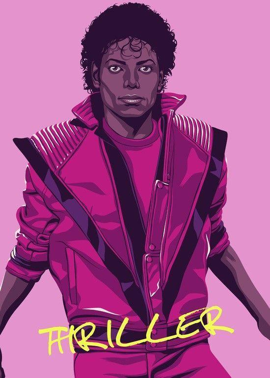 Mike Wrobel Shop Michael Jackson Thriller Art Print medium-13x18 Artwork Wall Art Poster