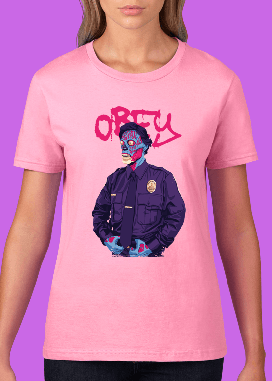 Mike Wrobel Shop Obey T Shirt Woman Charity Pink Small Medium Large X-Large 2X-Large