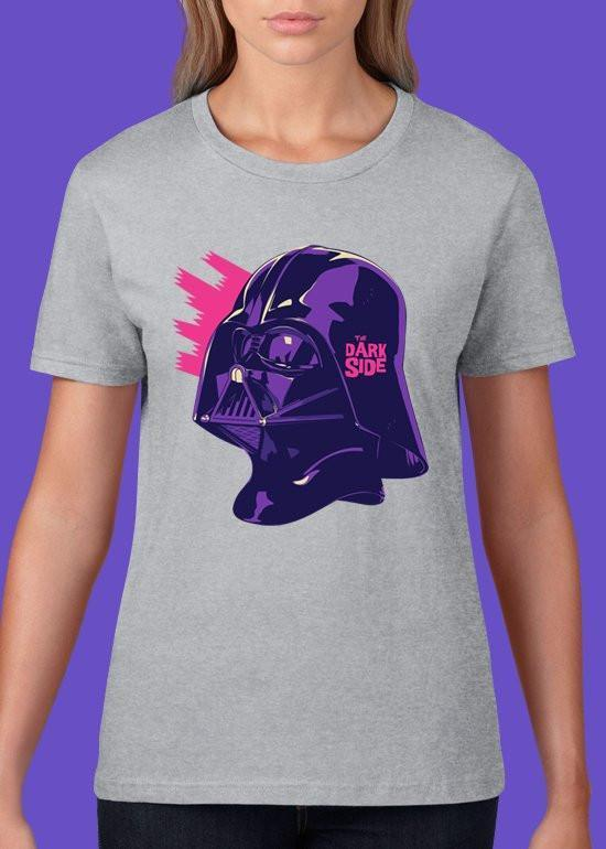 Mike Wrobel Shop The Dark Side T Shirt Woman Heather Grey Small Medium Large X-Large 2X-Large