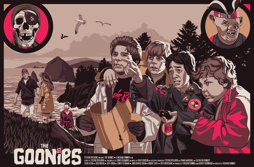 Mike Wrobel Shop The Goonies Art Print medium-15x22 Artwork Wall Art Poster
