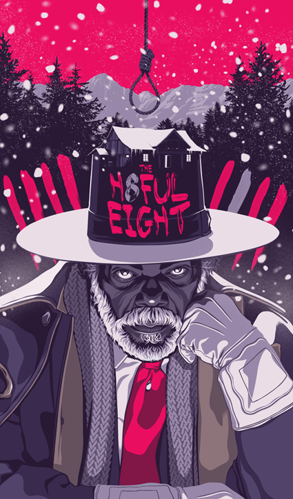 Mike Wrobel Shop The Hateful Eight Art Print medium-14x23 Artwork Wall Art Poster