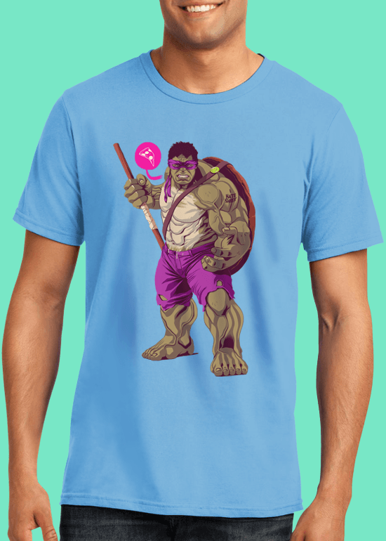 Mike Wrobel Shop The Hulk T Shirt Man Light Blue Small Medium Large X-Large 2X-Large