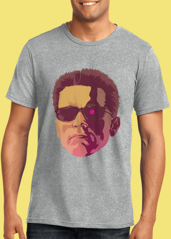 Mike Wrobel Shop The Terminator T Shirt Man Heather Grey Small Medium Large X-Large 2X-Large