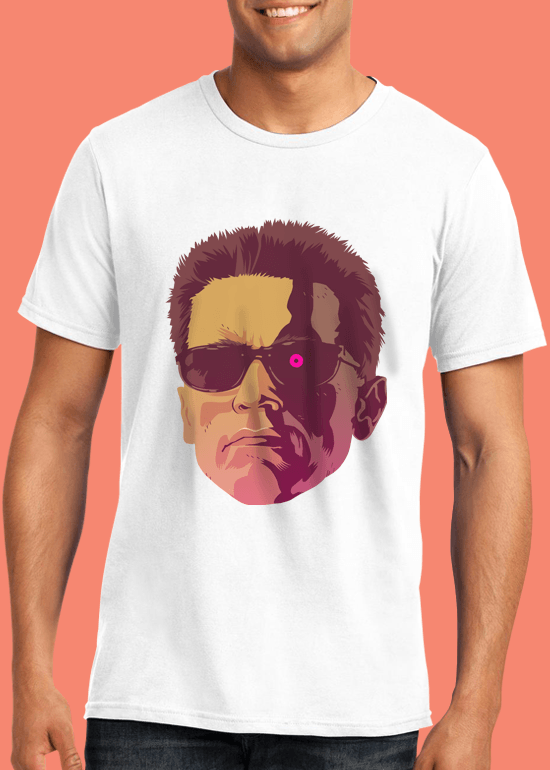 Mike Wrobel Shop The Terminator T Shirt Man White Small Medium Large X-Large 2X-Large