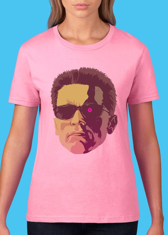 Mike Wrobel Shop The Terminator T Shirt Woman Charity Pink Small Medium Large X-Large 2X-Large