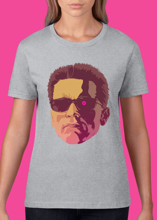 Mike Wrobel Shop The Terminator T Shirt Woman Heather Grey Small Medium Large X-Large 2X-Large