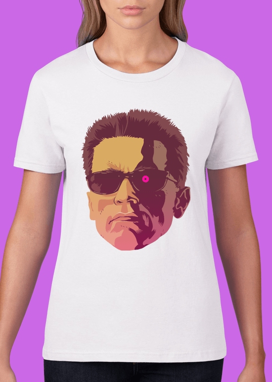 Mike Wrobel Shop The Terminator T Shirt Woman White Small Medium Large X-Large 2X-Large