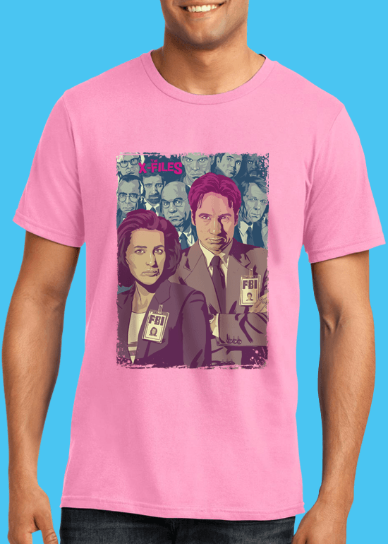 Mike Wrobel Shop The X-Files T Shirt Man Charity Pink Small Medium Large X-Large 2X-Large