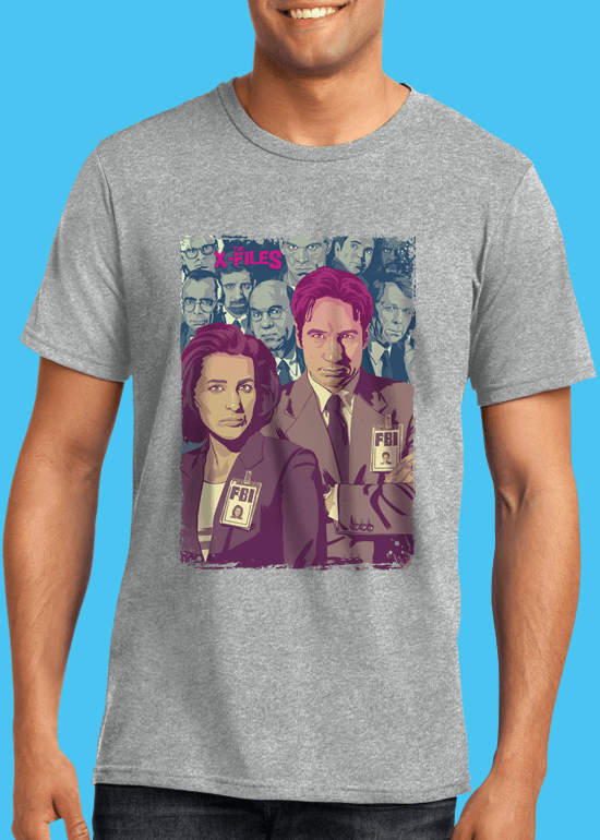 Mike Wrobel Shop The X-Files T Shirt Man Heather Grey Small Medium Large X-Large 2X-Large