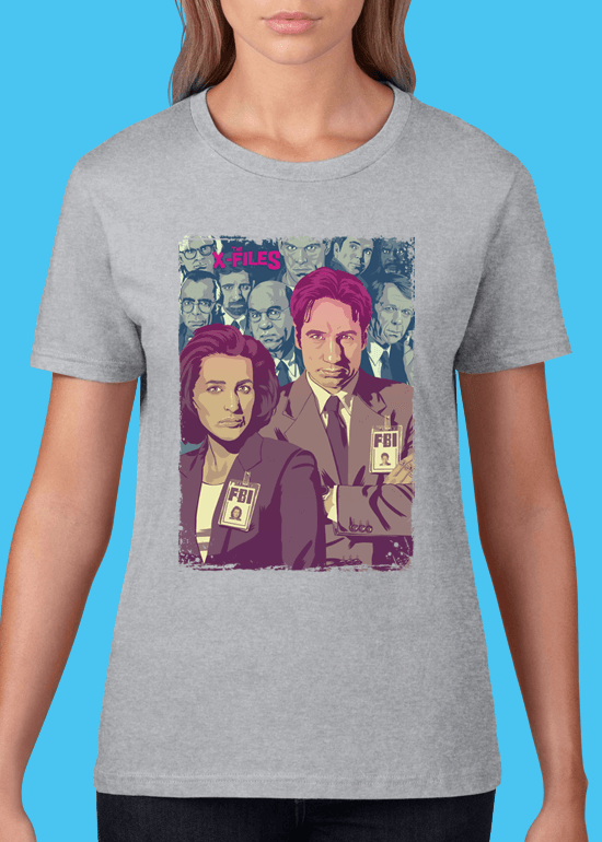 Mike Wrobel Shop The X-Files T Shirt Woman Heather Grey Small Medium Large X-Large 2X-Large