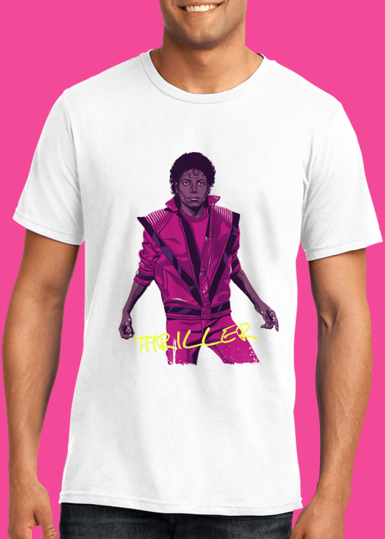 Mike Wrobel Shop Thriller Michael Jackson T Shirt Man White Small Medium Large X-Large 2X-Large