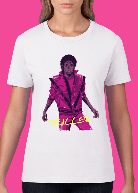 Mike Wrobel Shop Thriller Michael Jackson T Shirt Woman White Small Medium Large X-Large 2X-Large