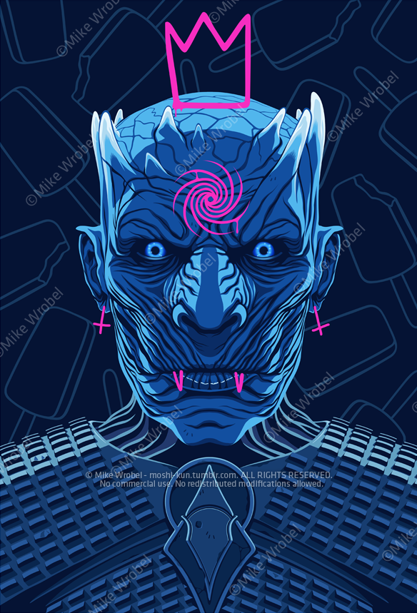 Mike Wrobel Shop Thrones Night King Limited Edition Art Print medium-14x20 Artwork Wall Art Poster
