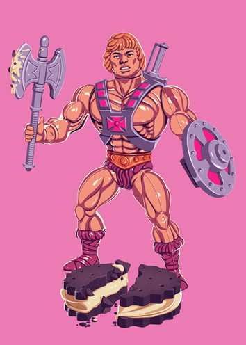 Mike Wrobel Shop TOYS #01 He-Man Art Print medium-12x12 Artwork Wall Art Poster