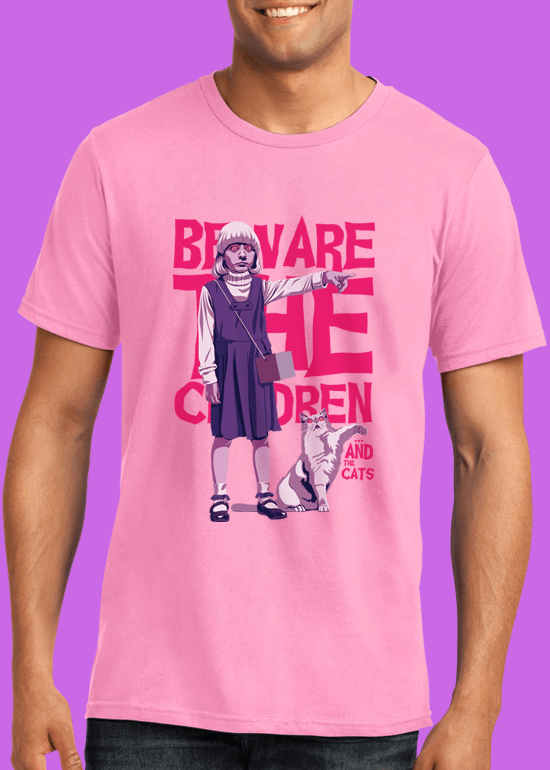 Mike Wrobel Shop Village Of The Damned T Shirt Man Charity Pink Small Medium Large X-Large 2X-Large